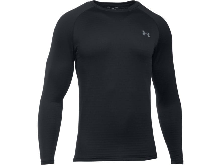 Under Armour Men's UA Base 3.0 Crew Base Layer Shirt Long Sleeve Polyester Black