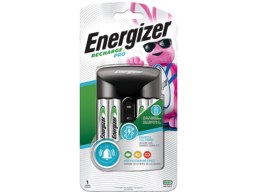 Energizer Recharge Pro Charger with 4 AA Batteries