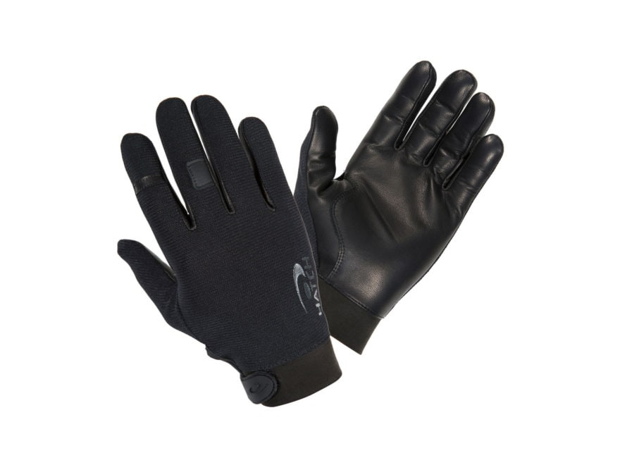 Hatch Task Light Shooting Gloves Synthetic and Leather Black