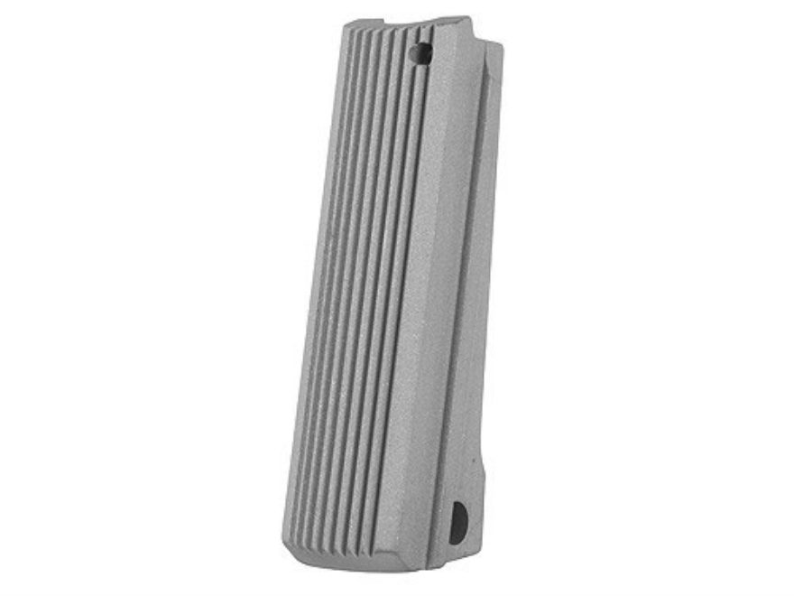 Colt Mainspring Housing Flat Colt Gold Cup Grooved Matte Stainless Steel