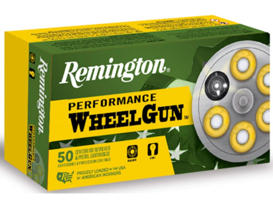 Remington Performance WheelGun Ammunition 38 Special 158 Grain Lead Round Nose Box of 50