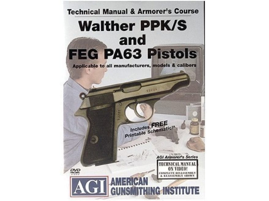 "American Gunsmithing Institute (AGI) Technical Manual & Armorer's Course Video ""Walther..."