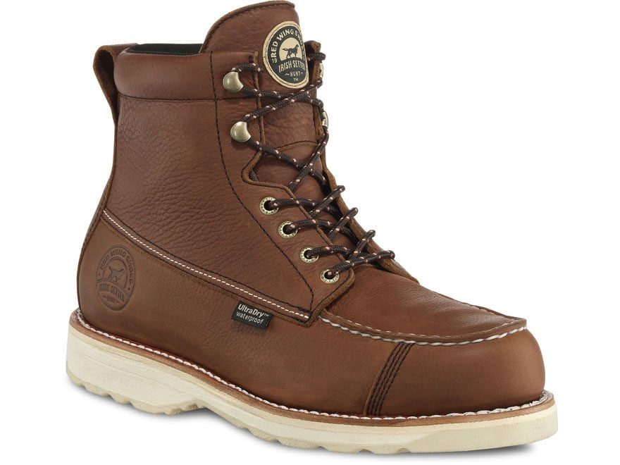 """Irish Setter 838 Wingshooter 7"""" Waterproof Hunting Boots Leather Amber Men's"""