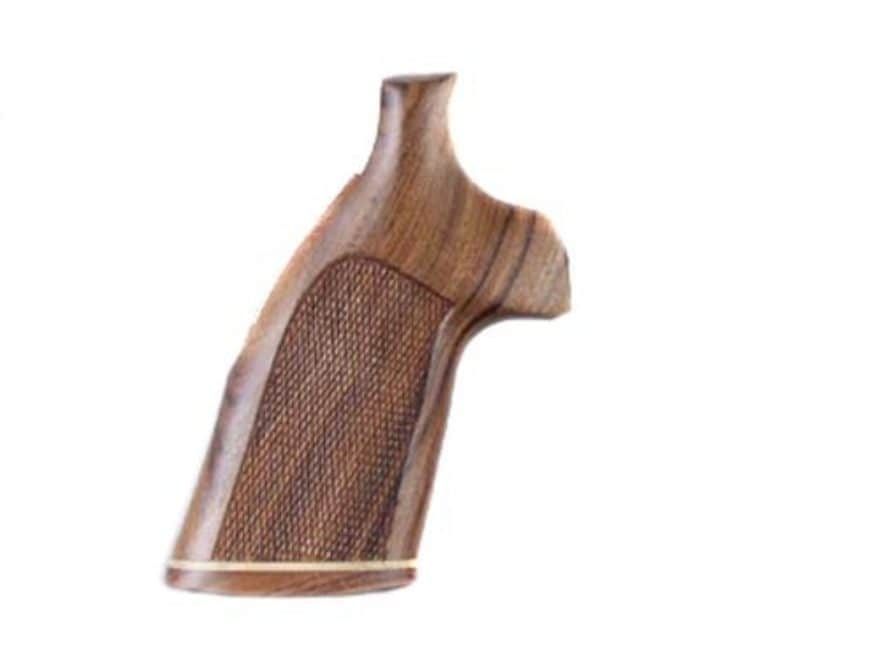 Hogue Fancy Hardwood Grips with Accent Stripe Colt Detective Special Checkered