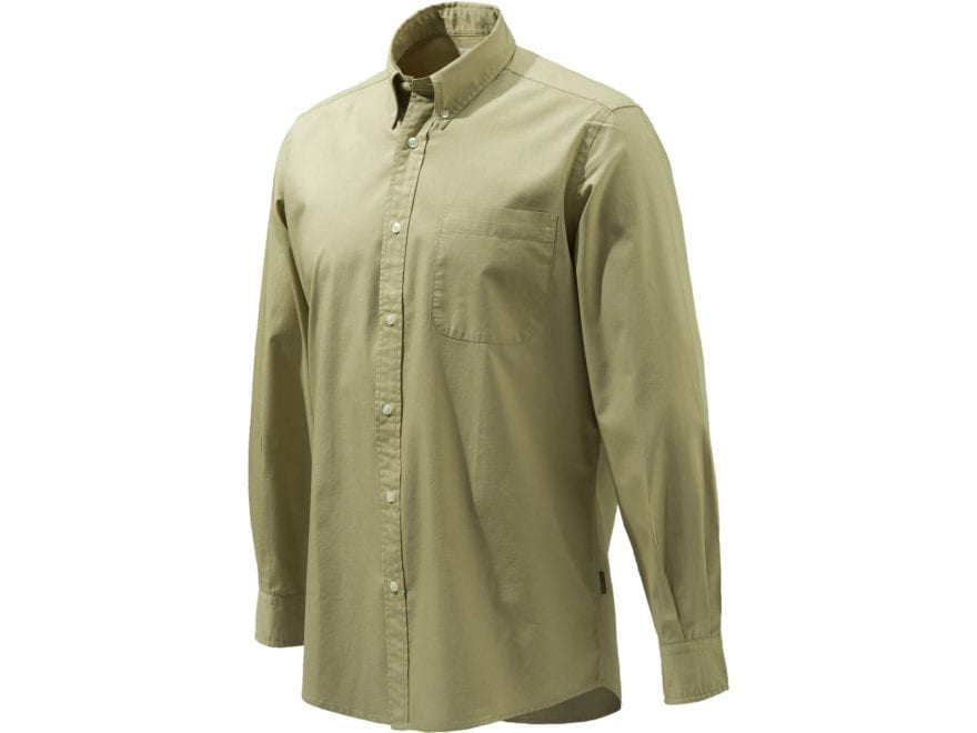 Beretta Men's Four Seasons Classic Button-Up Shirt Long Sleeve Cotton