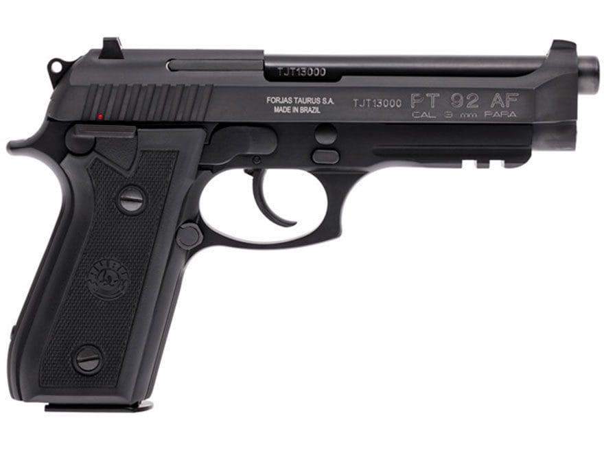 Taurus 92 Pistol 9mm Luger 5 Barrel 17-Round Black Rubber