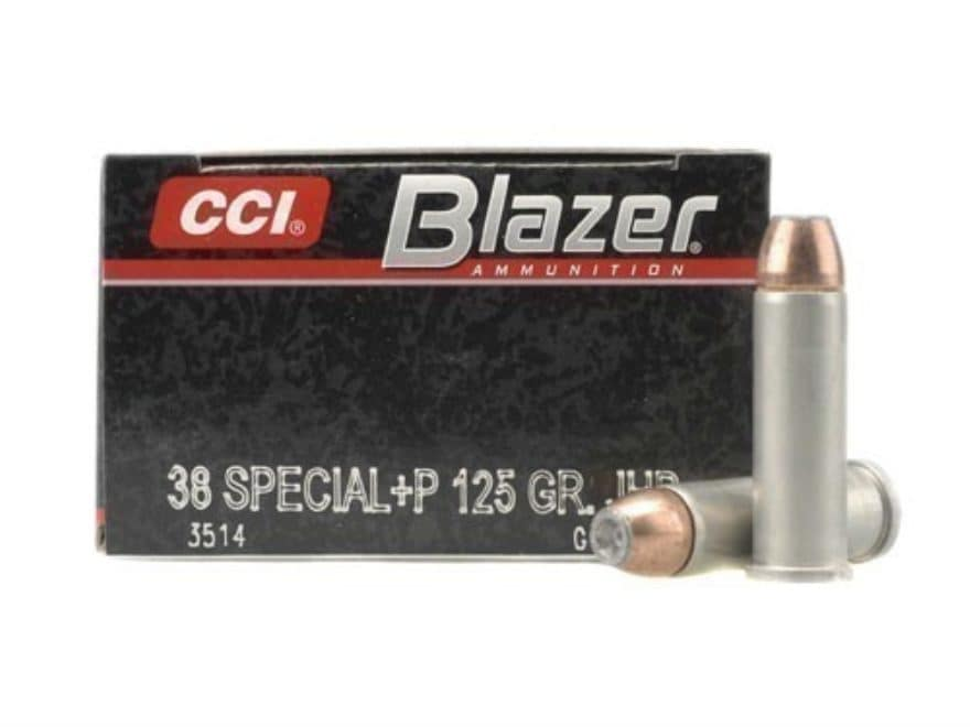 Blazer Ammunition 38 Special +P 125 Grain Jacketed Hollow Point Box of 50