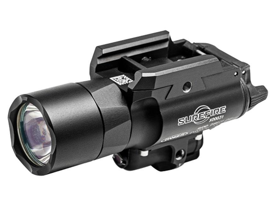 Surefire X400 Ultra Weapon Light LED with Red Laser with 2 CR123A Batteries Aluminum Black