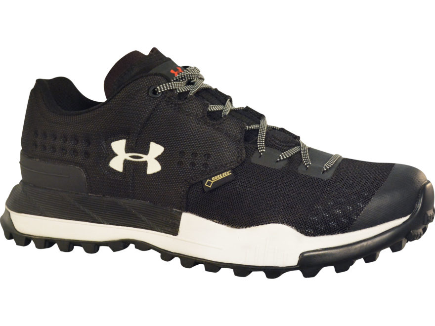 "Under Armour UA Newell Ridge Low GTX 4"" Waterproof Hiking Shoes Synthetic Black Men's"