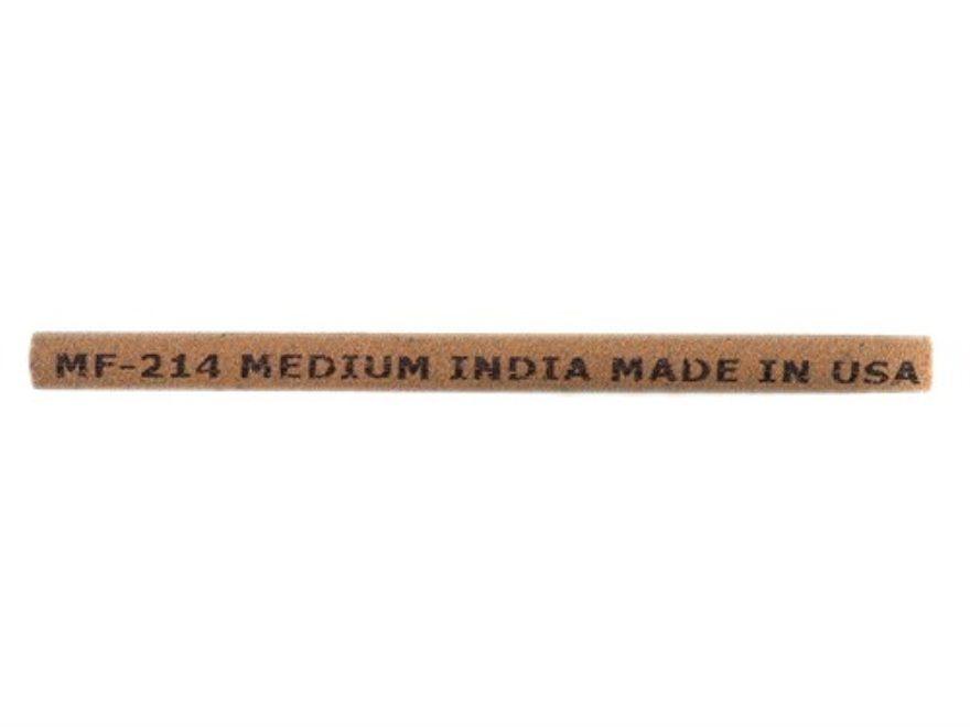 """Norton India Sharpening Stone Straight Round 4"""" x 1/4"""" Medium"""