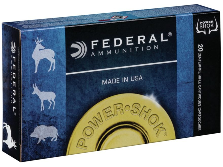 Federal Power-Shok Ammunition 450 Bushmaster 300 Grain Soft Point