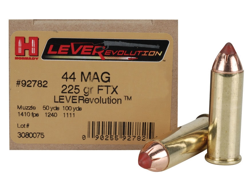Hornady LEVERevolution Ammunition 44 Remington Magnum 225 Grain Flex Tip eXpanding Box ...