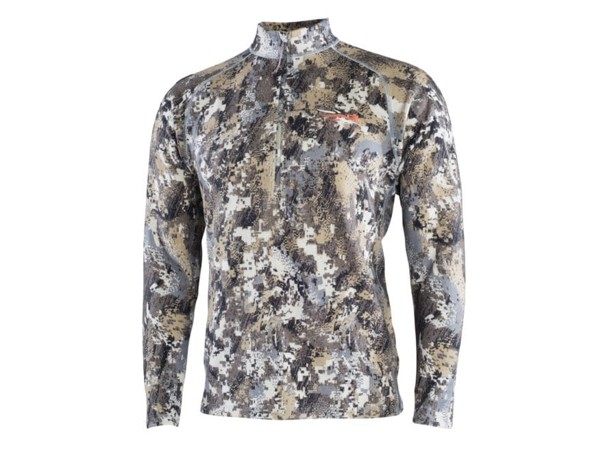 Sitka Gear Men's Merino Heavyweight 1/2 Zip Base Layer Shirt Long Sleeve Merino Wool