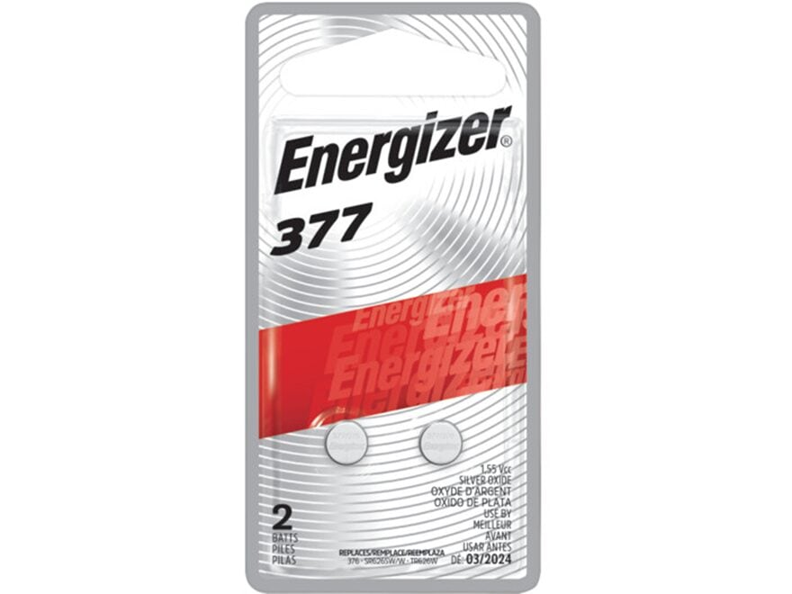 Energizer Battery 377 1.5 Volt Silver Oxide Pack of 2
