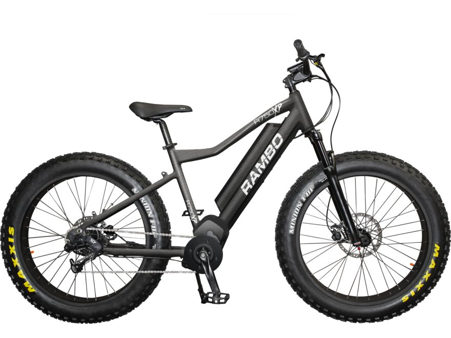 Rambo Bikes 750W Xtreme Performance Front Suspension Electric Bike Carbon