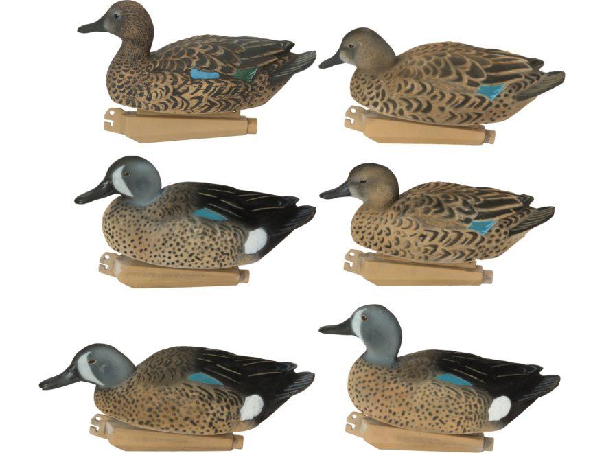 GHG FFD Pro-Grade Elite Blue Wing Teal Duck Decoy Pack of 6