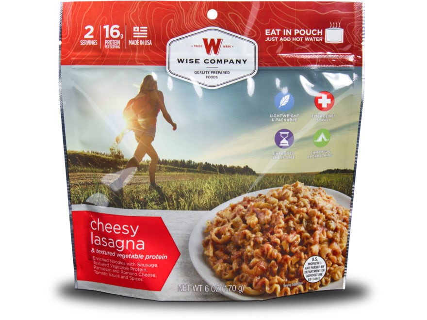 Wise Company Outdoor Cheesy Lasagna Freeze Dried Food