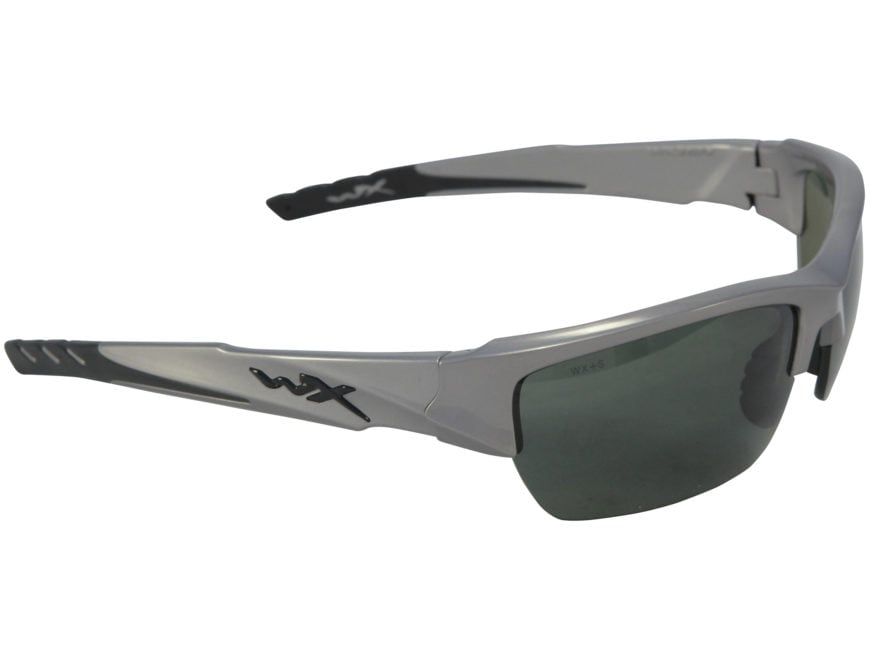 7e1ea4487e Wiley X WX Valor Polarized Sunglasses Smoke Green Lens. Alternate Image