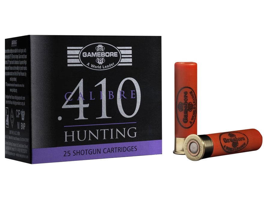 "Kent Cartridge Gamebore Game and Hunting Ammunition 410 Bore 2-1/2"" 3/8 oz #7 Shot"