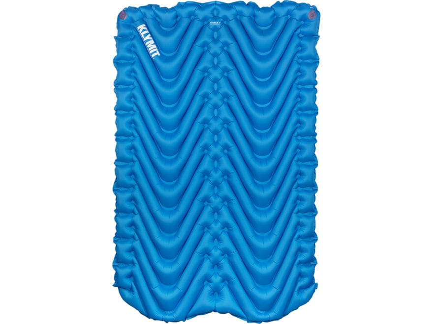 Klymit Static Double V Sleeping Pad Polyester Blue and Black