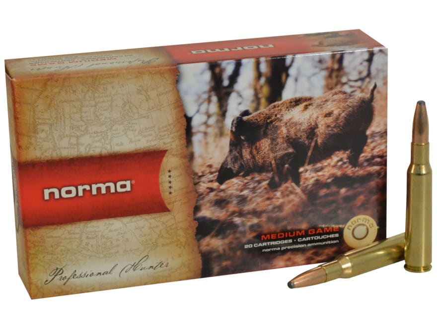 Norma USA American PH Ammunition 7x57mm Mauser 156 Grain Oryx Protected Point Box of 20