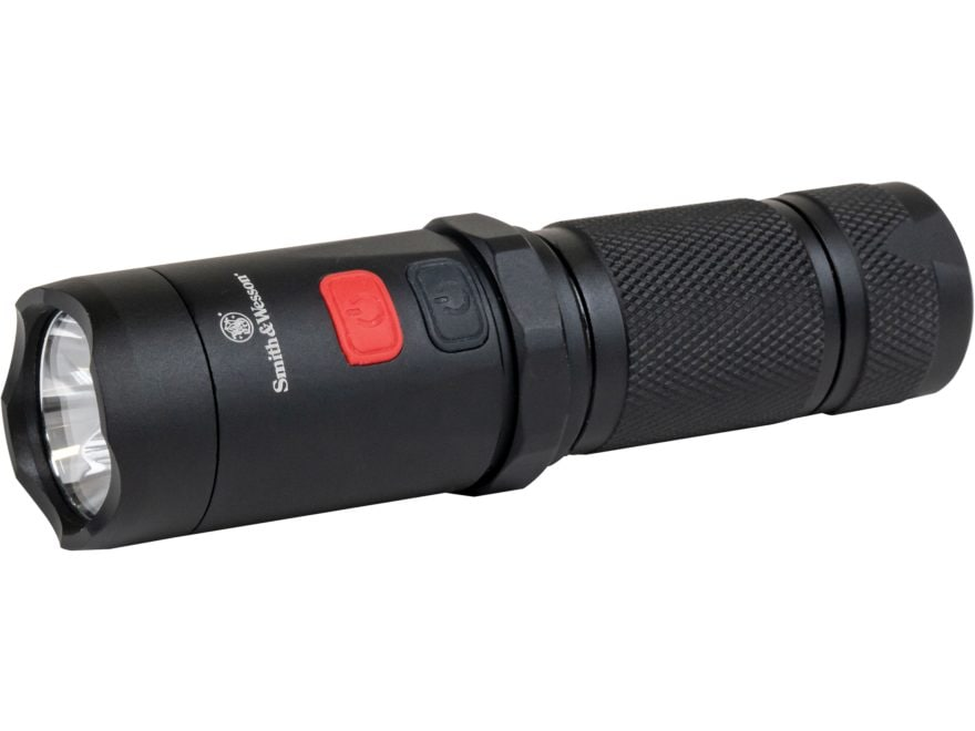 Smith & Wesson Night Guard Elite Dual Beam Flashlight White & Red LED with 3 AAA Batter...