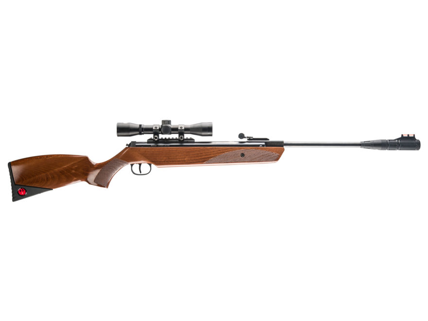 Ruger Impact Air Rifle 22 Caliber Pellet Hardwood Stock Blue Barrel with Scope 4x32mm F...