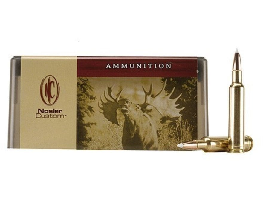 Nosler Custom Ammunition 7mm Weatherby Magnum 160 Grain AccuBond Spitzer Box of 20
