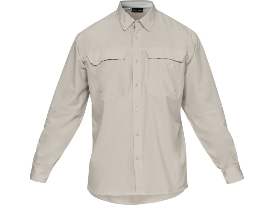 Under Armour Men's UA Tide Chaser Hybrid Button-Up Shirt Long Sleeve Polyester