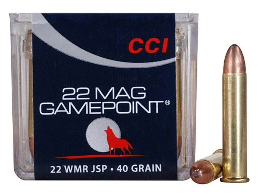 CCI GamePoint Ammunition 22 Winchester Magnum Rimfire (WMR) 40 Grain Jacketed Spire Point