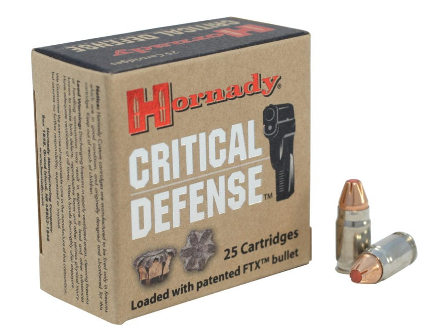 Hornady Critical Defense Ammunition 32 North American Arms (NAA) 80 Grain Flex Tip eXpa...