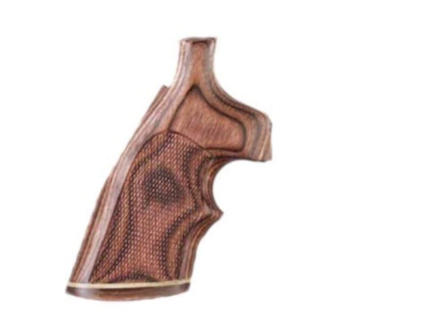 Hogue Fancy Hardwood Grips with Accent Stripe and Top Finger Groove Colt 38 SF-VI Check...