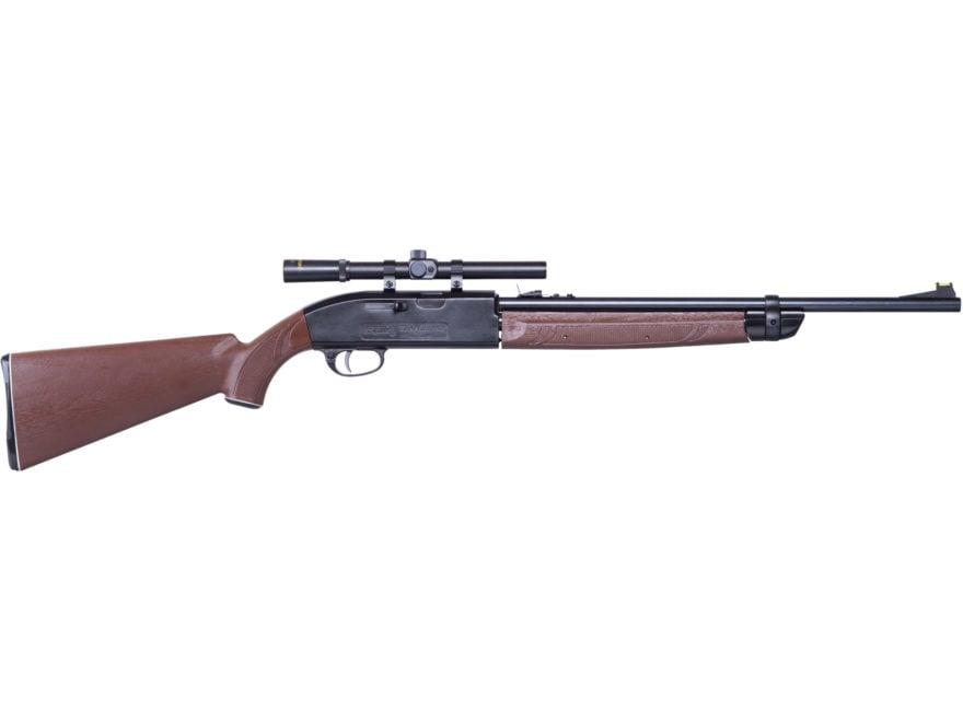 Crosman 2100 Classic Pump Air Rifle 177 Caliber BB and Pellet Brown Synthetic Stock Blu...