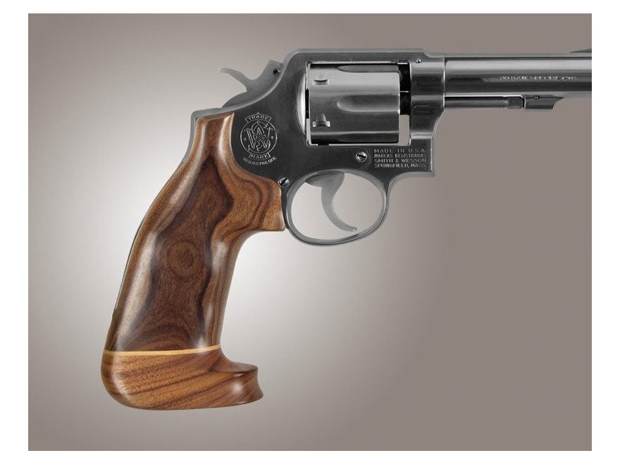 Hogue Fancy Hardwood Grips with Accent Stripe S&W K, L-Frame Square Butt Oversize