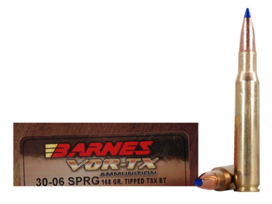 Barnes VOR-TX Ammunition 30-06 Springfield 168 Grain TTSX Polymer Tipped Spitzer Boat T...