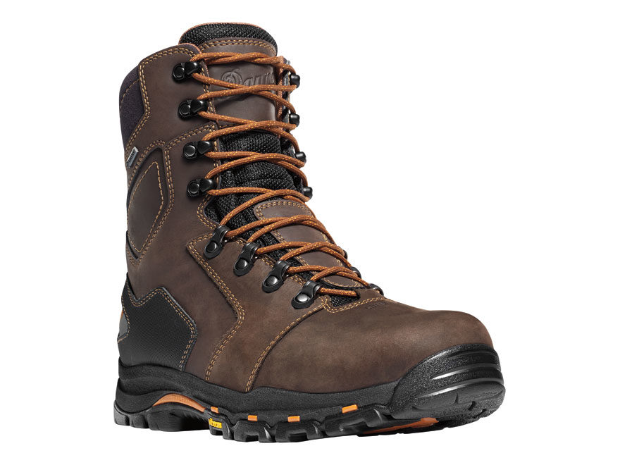 "Danner Vicious 8"" Waterproof GORE-TEX Non-Metallic Safety Toe Work Boots Leather Brown ..."