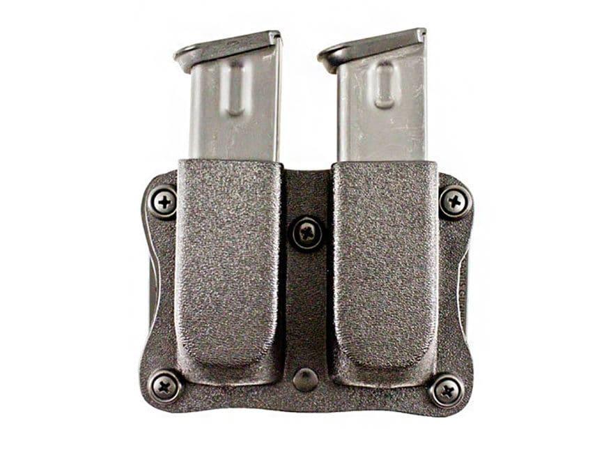 Pegasus Quantico Double Magazine Pouch Ambidextrous Glock 43 Kydex Black
