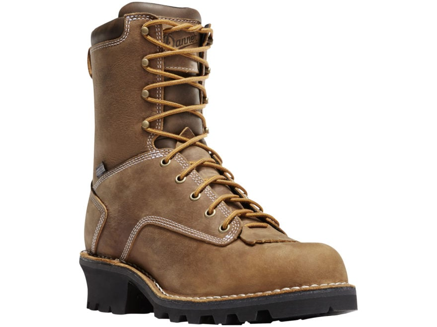 "Danner Logger 8"" Waterproof Work Boots Full-Grain Leather Men's"
