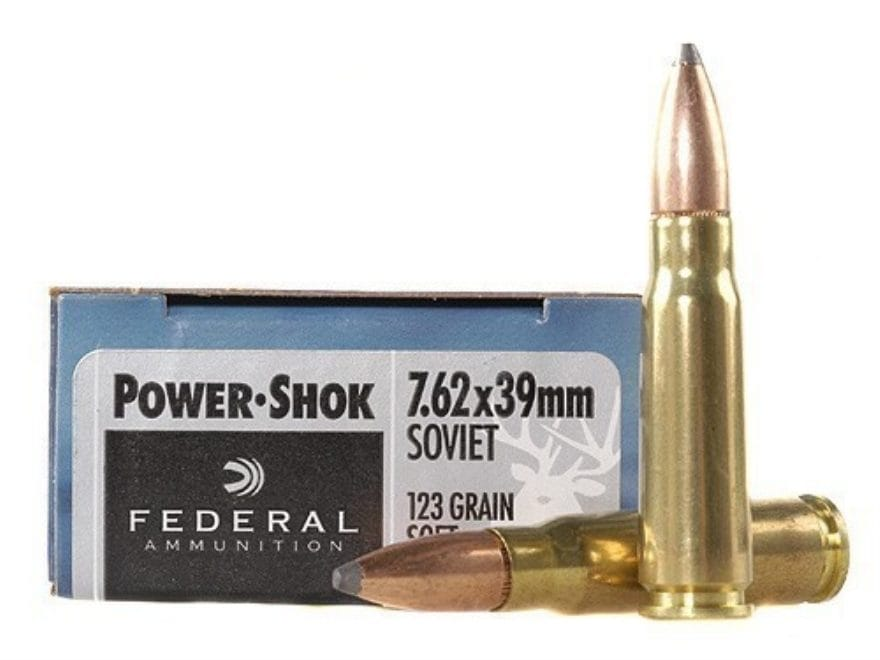 Federal Power-Shok Ammunition 7.62x39mm 123 Grain Soft Point