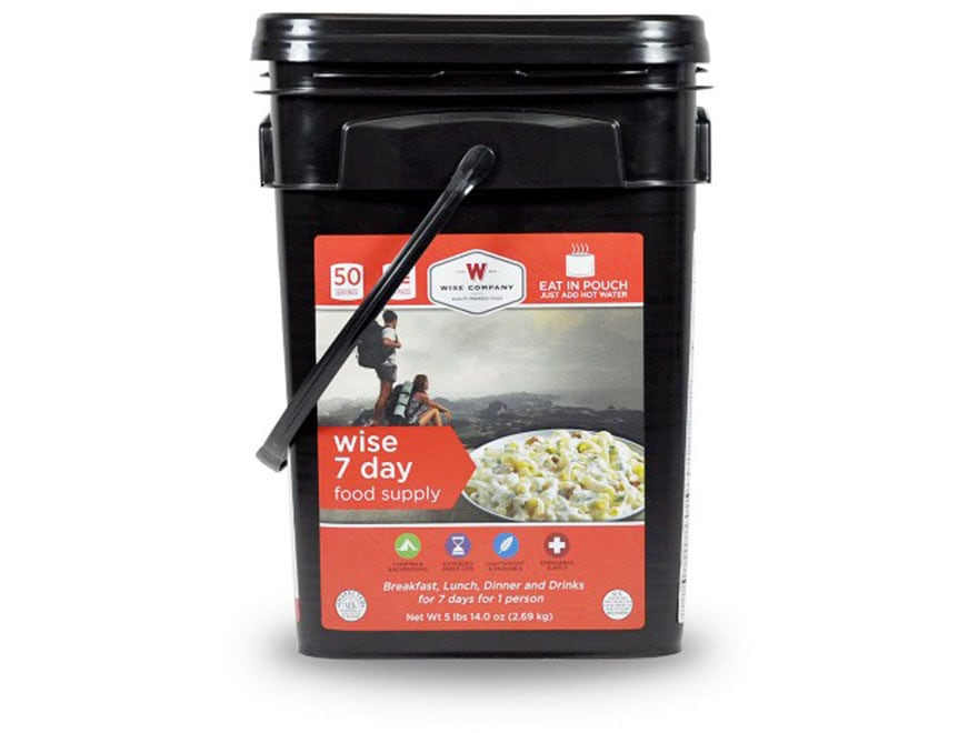 Wise Company 7 Day Food Supply Freeze Dried Food Bucket