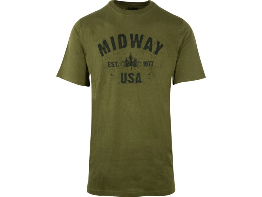 MidwayUSA Men's Short Sleeve T-Shirt 100% Cotton