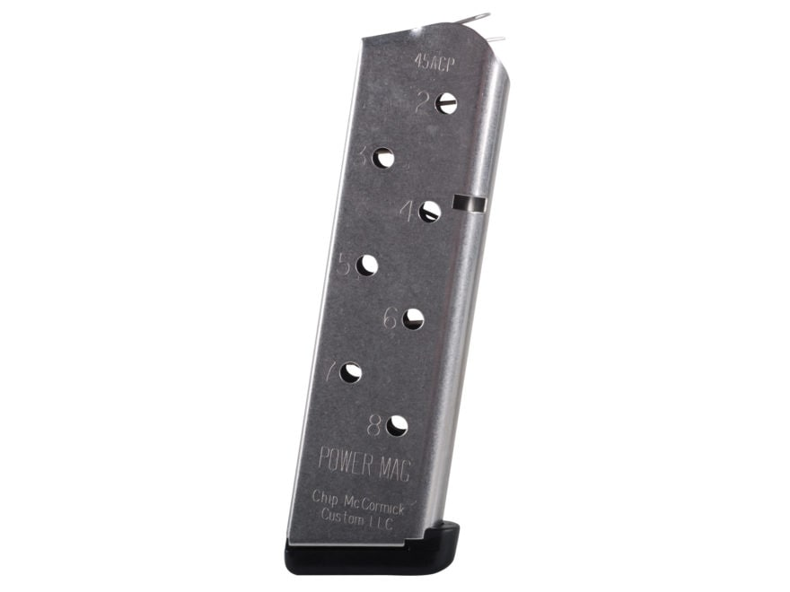 Chip McCormick Power Mag Magazine with Base Pad 1911 Government, Commander 45 ACP