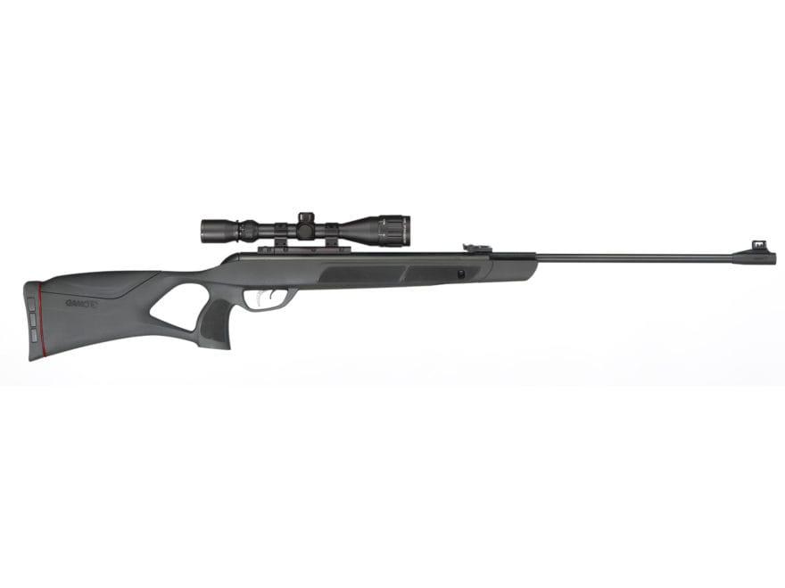 Gamo Magnum Air Rifle Pellet Black Synthetic Stock Blue Barrel with Gamo Airgun Scope 3...