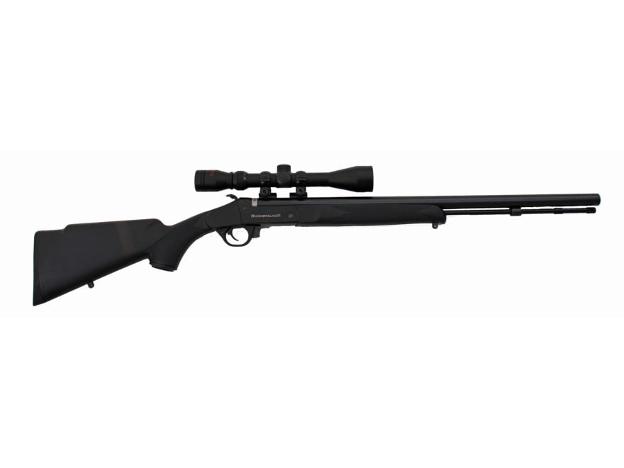 Traditions BuckStalker Muzzleloading Rifle with 3-9x 40mm Duplex Scope and Redi-Pak 50 ...