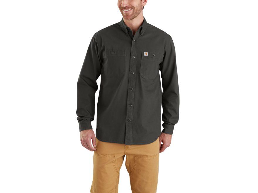 Carhartt Men's Rugged Flex Rigby Work Shirt Long Sleeve Cotton/Spandex