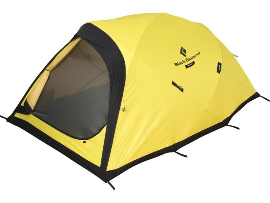 "Black Diamond Equipment Fitzroy 2-3 Person Dome Tent 93"" x 60"" x 40"" ToddTex Fabric Yellow"