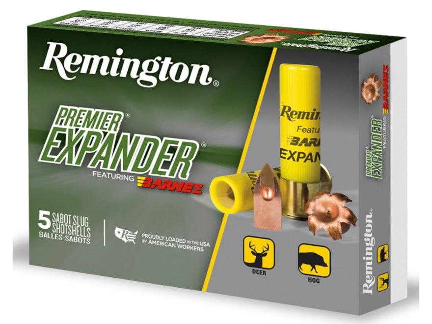 "Remington Premier Expander Slug Ammunition 20 Gauge 3"" 250 Grain Barnes Polymer Tipped ..."