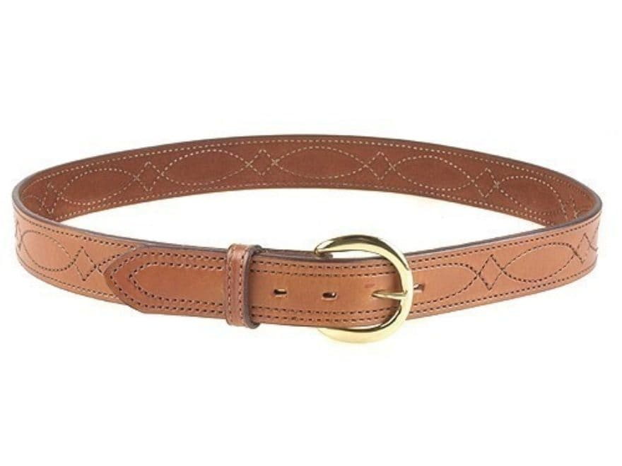 """Bianchi B12 Sport Stitched Belt 1.5"""" Suede Lined Leather"""