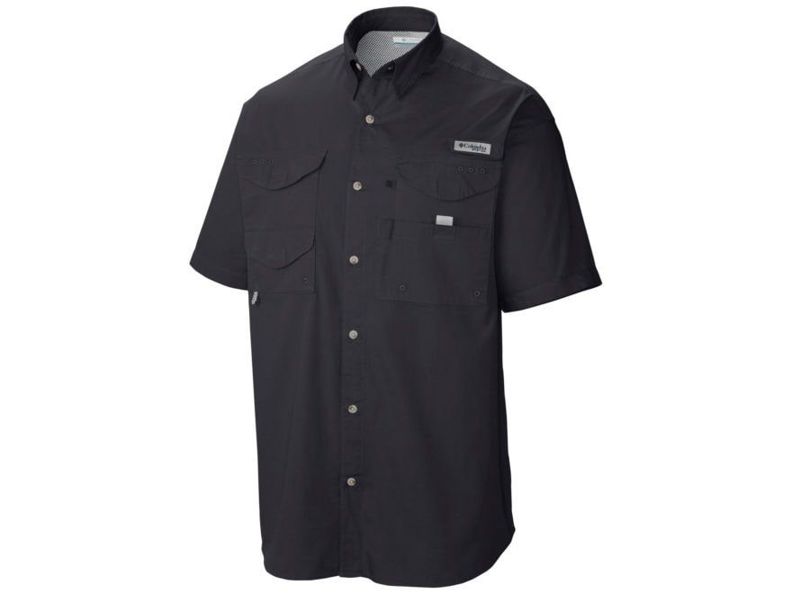 Columbia Men's PFG Bonehead Button-Up Shirt Short Sleeve Cotton