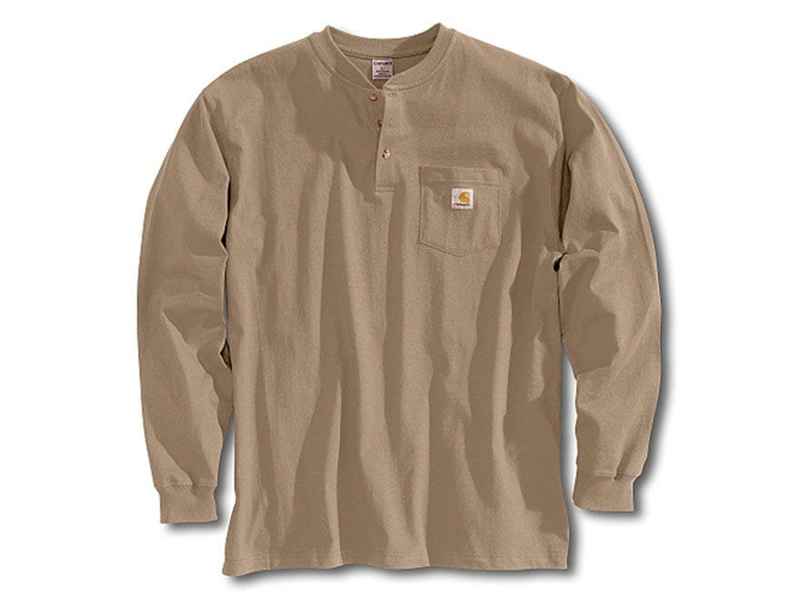 Carhartt Men's Workwear Pocket Henley Long Sleeve Cotton
